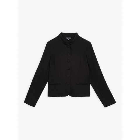 best price black crepe anabelle jacket limited sale last chance
