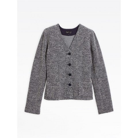 best price navy blue and white tweed catya jacket limited sale last chance