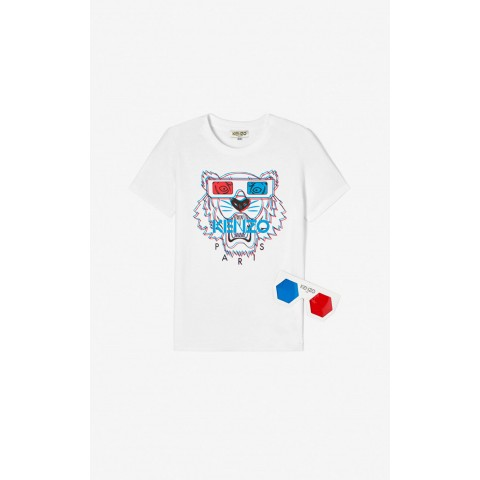 best price 3d tiger t-shirt - white limited sale last chance