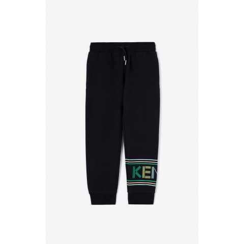last chance kenzo logo jogging trousers - black best price limited sale