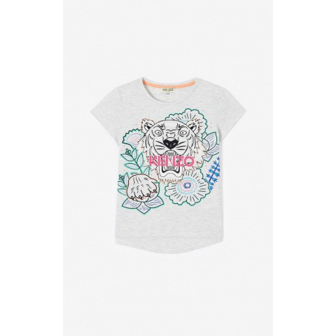 last chance 'disco jungle' tiger t-shirt - pale grey best price limited sale