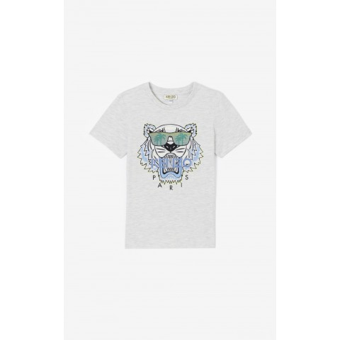 best price 'cali party' tiger t-shirt - pale grey last chance limited sale