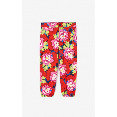 limited sale 'japanese flower' trousers - navy blue last chance best price